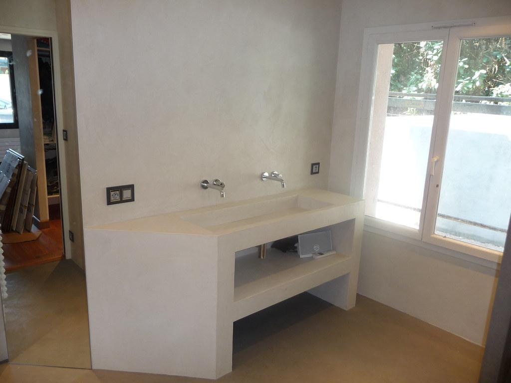 Meuble En Béton Ciré meuble évier béton ciré sable | batife beton | flickr