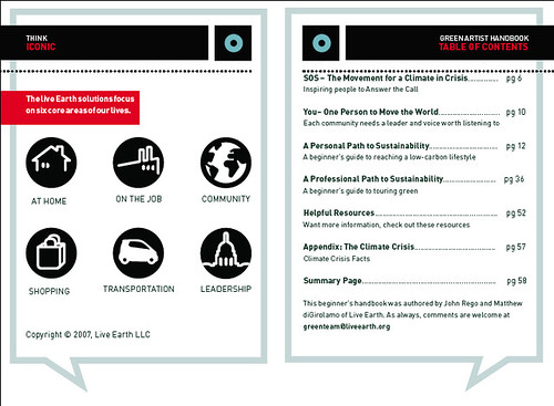 Live Earth Information Graphics and Icons