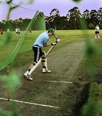 Uni Cricket: Ian Batting at Training