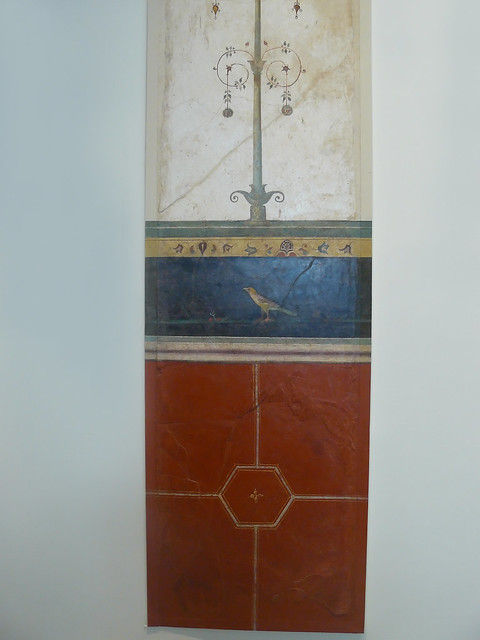 Wall painting from a cubiculum nocturnum Roman Augustan 1st century BCE from the villa of Agrippa Postumus at Boscotrecase (7)