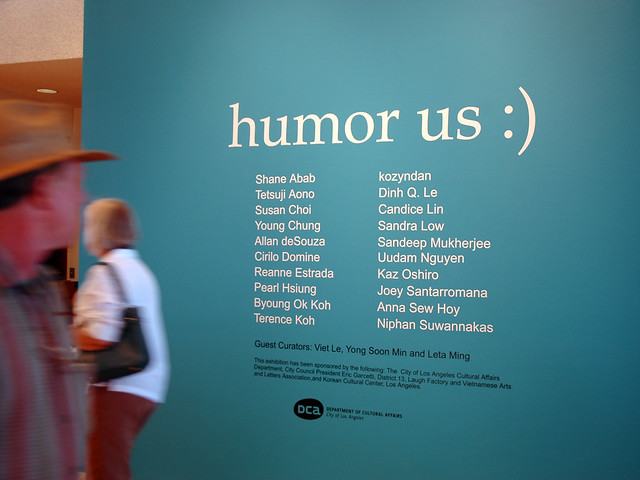 Title Wall - Humor Us at the Municipal Art Gallery