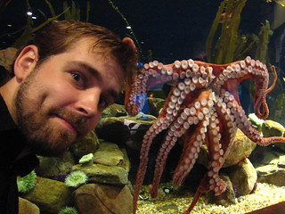 Giant pacific octopus yanks on Alex's hair