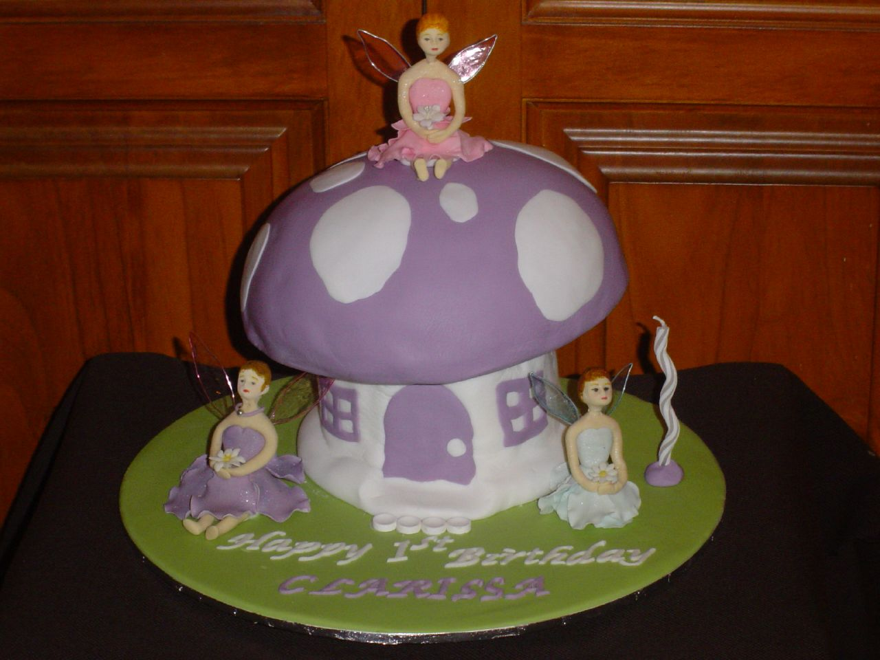 Fairy Mushroom Birthday Cake 1