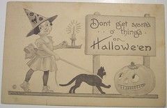 Vintage Halloween Postcard     Bergman