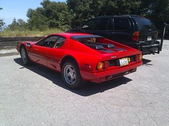 ferrari 288 gto(0.0), ferrari 308 gtb/gts(0.0), ferrari 328(0.0), race car(1.0), automobile(1.0), ferrari 512(1.0), vehicle(1.0), ferrari berlinetta boxer(1.0), land vehicle(1.0), supercar(1.0), sports car(1.0),