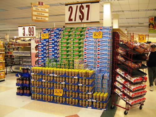Fred Meyer Pepsi CSD Display End Cap