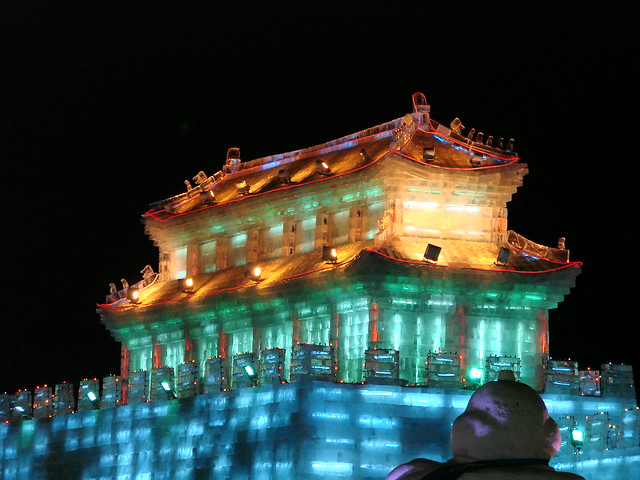 Ice Sculpture at the Ice and Snow Festival in Harbin, China in February 2007