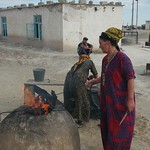 Women Cooking Goat's Head - Jerbent, Turkmenistan