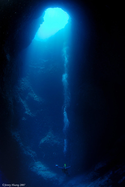 Prayer inside Blue Hole