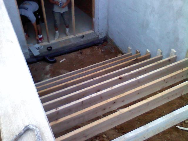 basement walkout concrete steps explore trivettconstructio