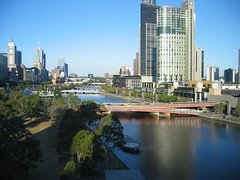 View of Yarra river in Melbourne city