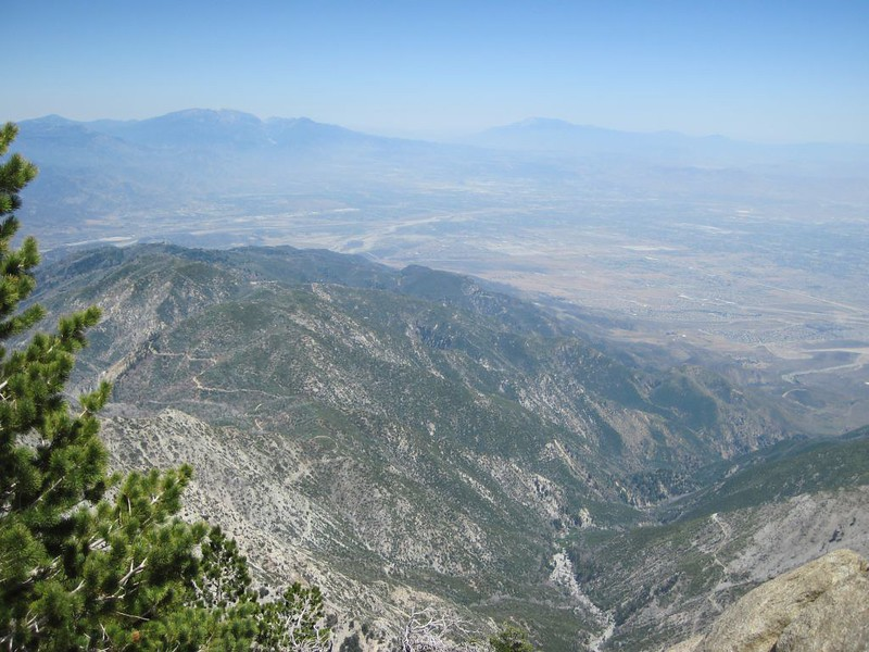 San Gorgonio and San Jacinto from the Cucamonga Peak summit