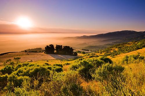 california skyline sunrise santacruzmountains windyhill gnd 3stophard 51386
