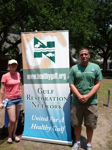Jonathan Henderson, Louisiana Global Warming Organizer and volunteer from Gulf Coast Restoration Network