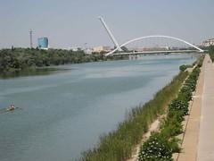 levee, reservoir, river, channel, waterway, bridge, cable-stayed bridge,