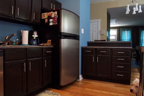 Kitchen right - The new kitchen island
