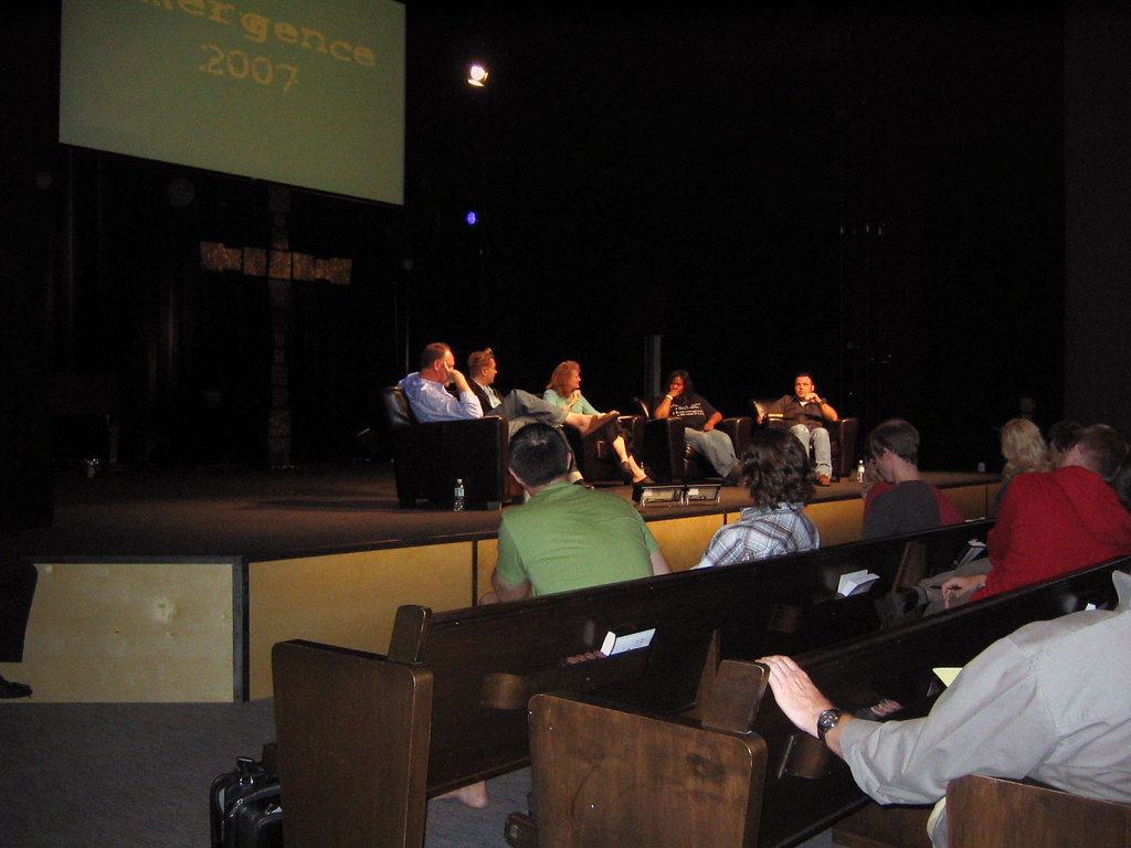 Krista moderates a panel at Emergence 2007
