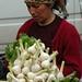 Fresh Garlic at Telavi Market - Kakheti, Georgia
