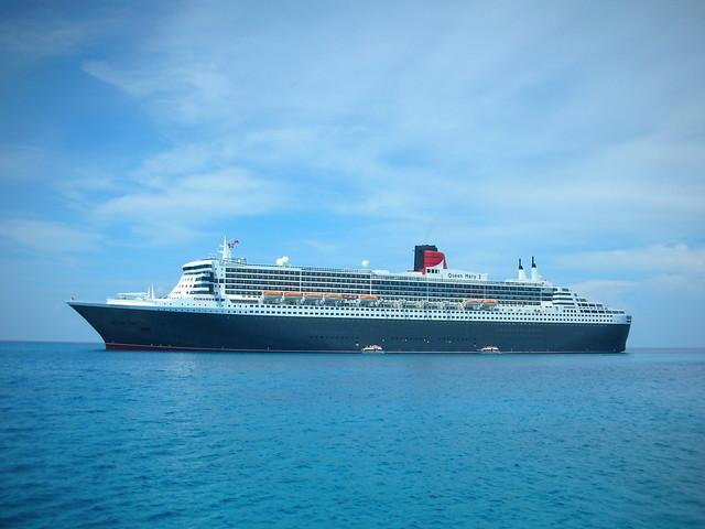 Cunard QM2. Eleuthera. Bahamas