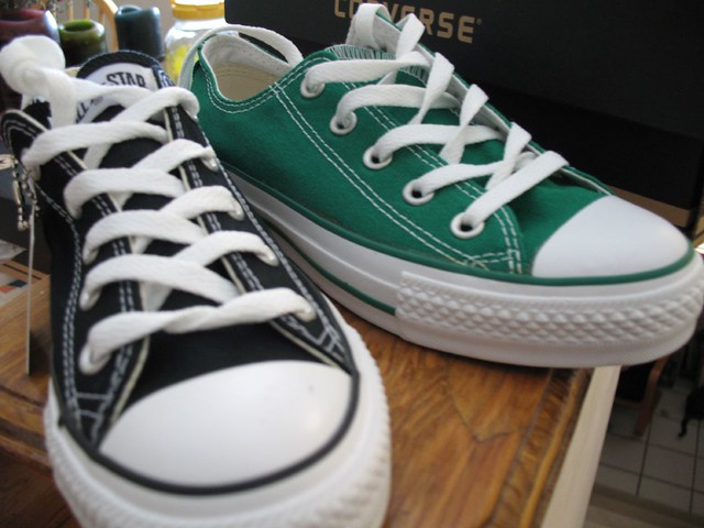 Black Shoes With Green Soles