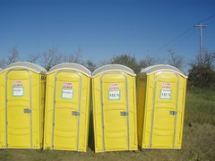 yellow, public toilet, portable toilet,