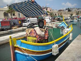 Typical Marsaxlokk boat