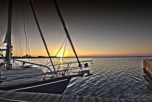 sunset beach water sailboat sunrise canon bay boat dock florida tide sigma sail nik 1020 sandestin t21 baytowne 550d colorefexdestin baytowneharbourdwarf