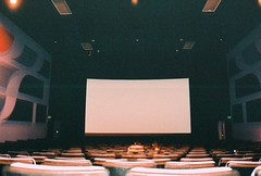 movie theater(1.0), theatre(1.0), stage(1.0), auditorium(1.0), interior design(1.0), display device(1.0),