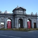 Image of Puerta de Alcalá. madrid españa spain puerta juegos carlos games olympic espagne olimpiadas 2012 alcalá olímpicos candidata