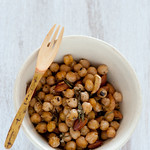 warm chickpea salad with rosemary & almonds