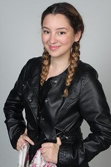 hairstyle, textile, leather jacket, clothing, leather, hair, fashion, jacket, photo shoot,