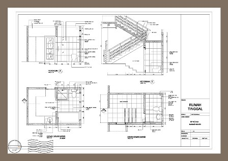 Arsitektur Rumah on Contoh Gambar Detail Arsitektur Kamar Mandi   Tangga Di Rumah Tinggal