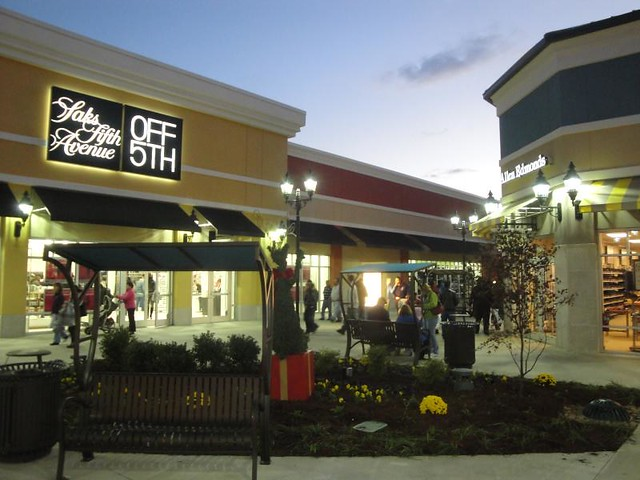 saks fifth avenue off fifth  tanger outlets