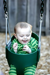 first time on a swingset    MG 8922