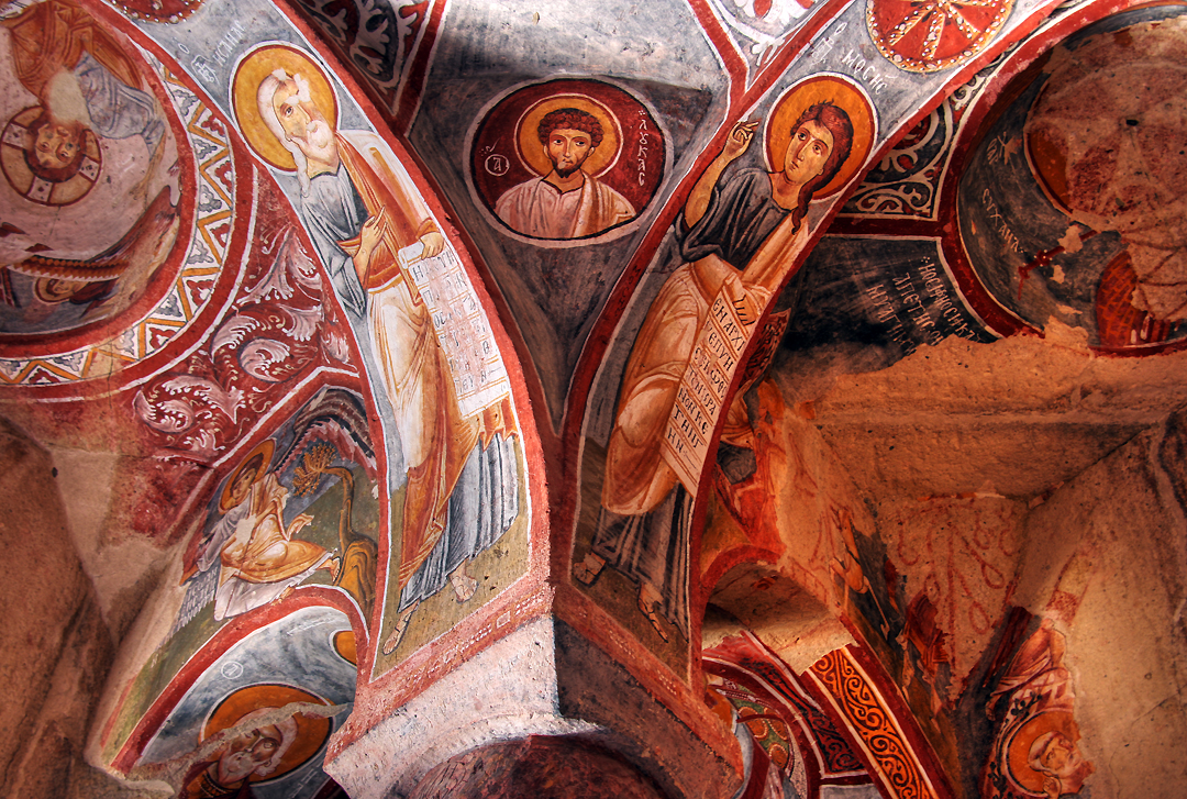 Looking up, Goreme church