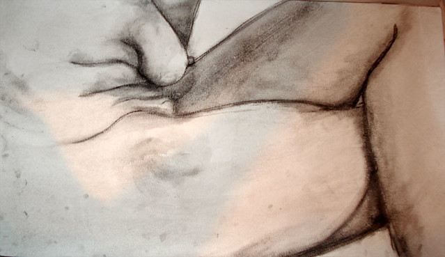 Thumbnail Nude. sumi ink on watercolor