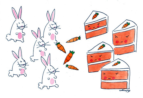 Faceoff: Bunnies v. Carrot Cake