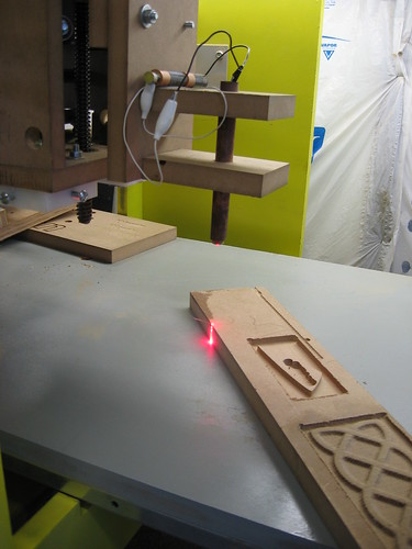 CNC engraving with a DVD burner laser
