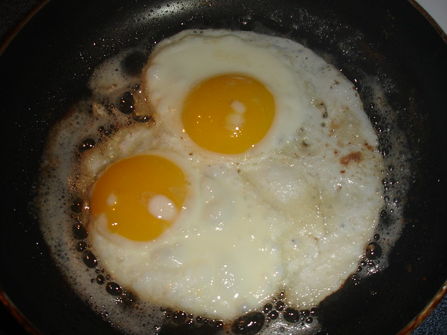 Making Two Fried Eggs