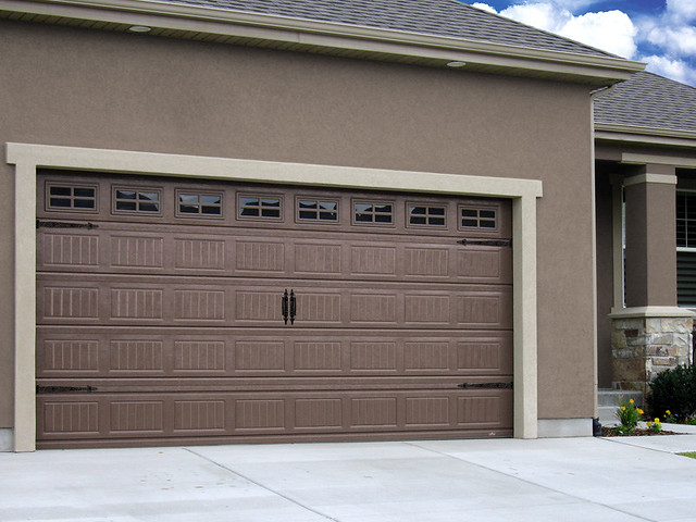 Garage Doors Grooved Sandcast Bronze Finish