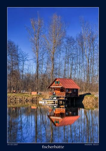 lake austria fishing hut styria