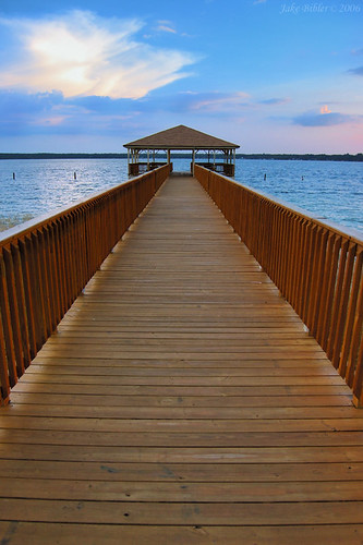 sunset usa water landscape dock florida campblanding yourcountry
