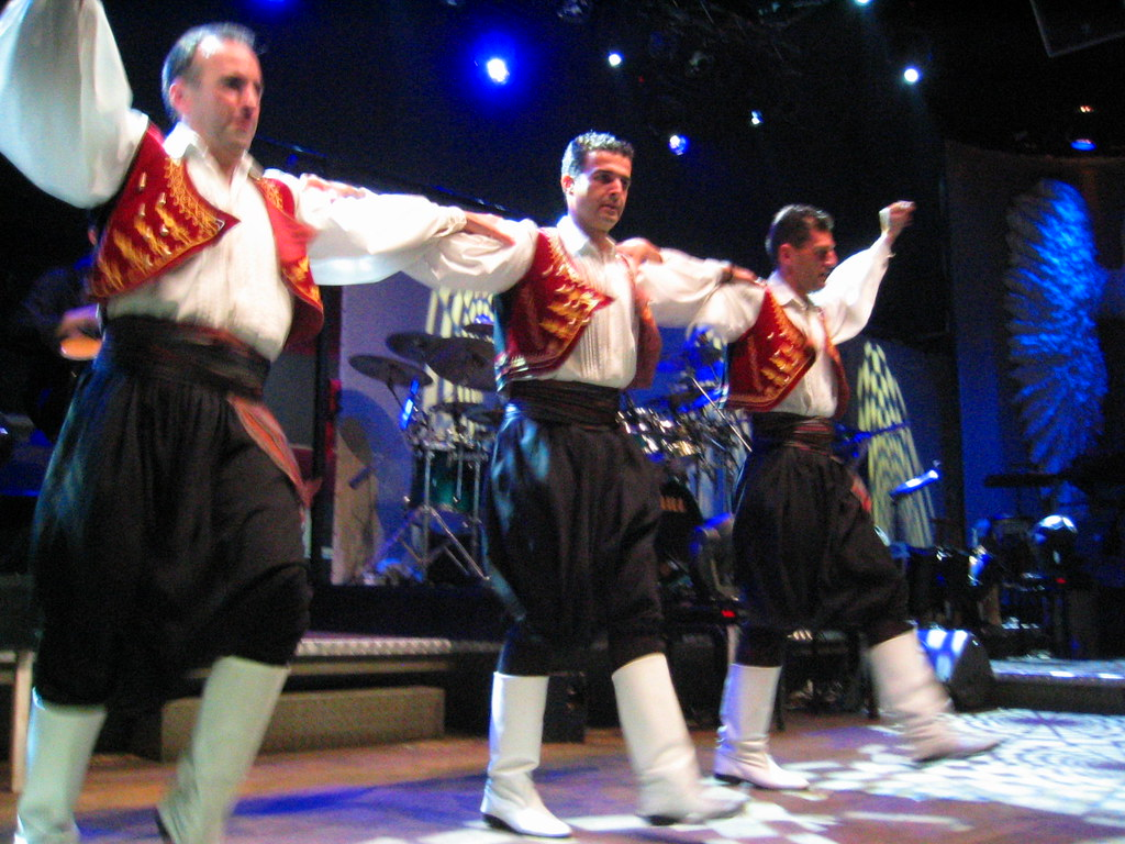 Greek men dancing