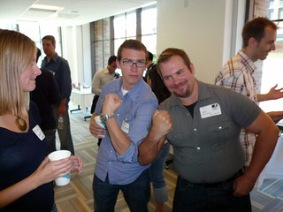 robb and owen muscling up