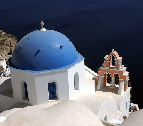 No. 96 R, Santorini, page 172, 1000 Places To See Before You Die, travel book cover shot of Santorini