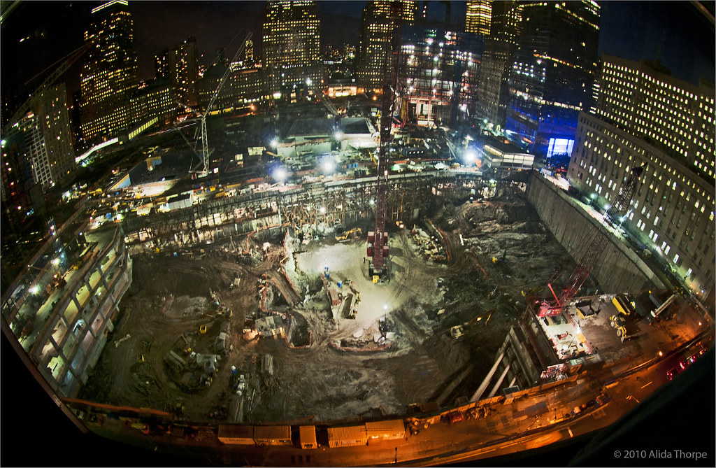 construction at night