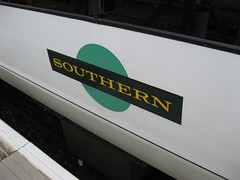 Southern livery on train
