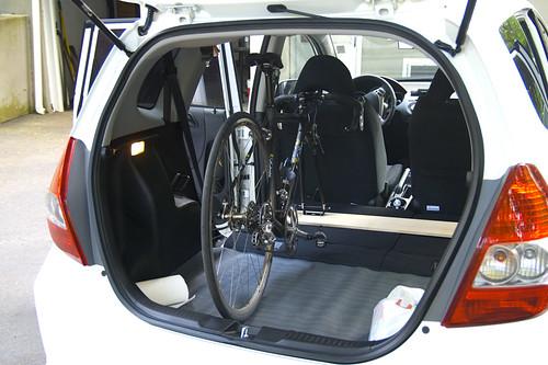 homemade internal bike rack unofficial honda fit forums. Black Bedroom Furniture Sets. Home Design Ideas