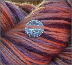 Close up of Apricot Cinder Yarn