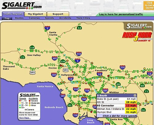 Sigalert Los Angeles Orange County Traffic Report: Orange County Traffic Map At Slyspyder.com